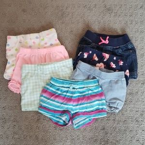 Bundle of girl's 12M shorts